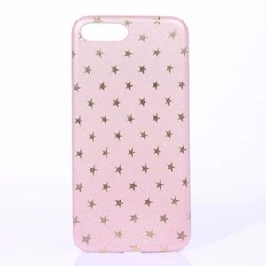 NEW iPhone 7+/8+ Pink and Gold Stars Case